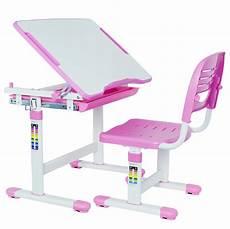 vivo height adjustable childrens desk chair kids interactive work station pink ebay