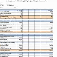 Excel Firmenwagen Rechner 1 Methode