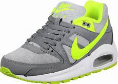 nike air max command flex gs shoes grey neon yellow