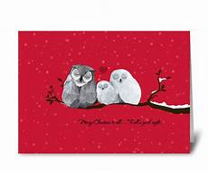 merry christmas to all owls send this greeting card designed by caramel expressions card gnome