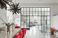 Trennwand Aus Glas Wie Sprossenfenster Wohnk 252 Che In 2019