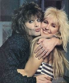 Lita Ford And Ozzy Osbourne lita ford and ozzy osbourne rock musicians photo