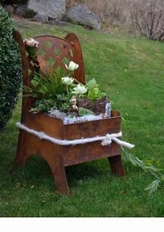 Deko Stuhl Garten - die 25 besten ideen zu gartendeko rost auf