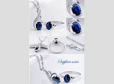 2 Carats Sapphire engagement ring and matching sapphire