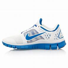 nike free run 3 womens running shoes white blue