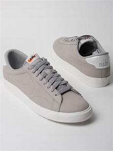 nike tennis classic ac nd nubuck trainers in gray for