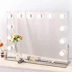 schminktisch spiegel beleuchtet chende tabletop rahmenlos hollywood schminkspiegel mit