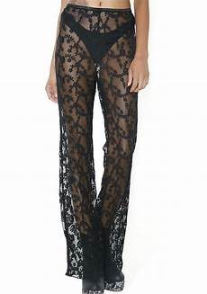 black sheer floral lace dolls kill