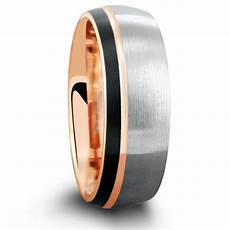 dome triple tone rose 8mm three tone brushed tungsten