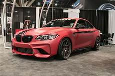 dinan engineering s stage 2 bmw f87 m2 forgeline one piece forged monoblock ga1r wheels