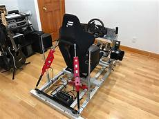 diy pvc sim racing rig plans diy reviews ideas
