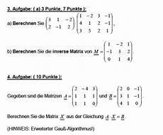 matrix und inverse matrix berechnen ist aufgabe 3a