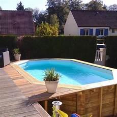 piscine bois octogonale semi enterrée piscine bois octogonale grenade sunbay 4 36 m x 3 36 m x