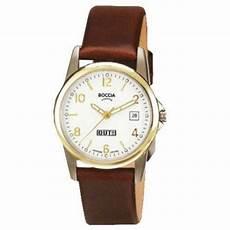 boccia damen armbanduhr mit lederarmband 3080 05 watcheo de