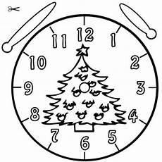 Uhr Malvorlagen Zum Ausdrucken Uhrzeit Lernen Die Uhr Lernen Ausmalbild Christbaum Zum