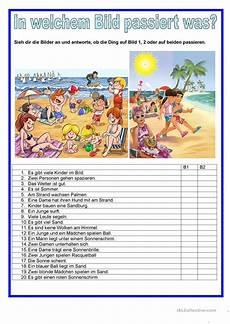 Malvorlagen Urlaub Strand Englisch Bildbeschreibung Strand Arbeitsblatt Kostenlose Daf