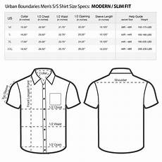 Mens Business Shirt Size Chart Men S Size Charts Urban Boundaries