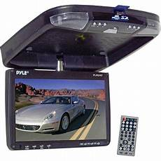 auto dvd player pyle 9 flip roof mount monitor and dvd player