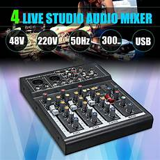 Bakeey Professional Channel Sound Card Channel by Aliexpress Buy Leory Karaoke Mixer Professional 4