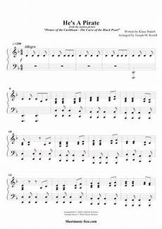 he s a pirate 2 by pirates of the caribbean piano sheet music sheetdownload