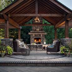 50 marvelous rustic outdoor fireplace designs for your barbecue party home outdoor space