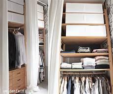 Begehbarer Kleiderschrank Mit Vorhang - seidenfein s dekoblog kleiderschrank aus ikea ivar in