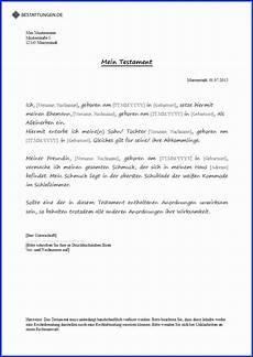 Muster Antrag Erbschein Testament - 15 einzeltestament testament schreiben handschriftlich