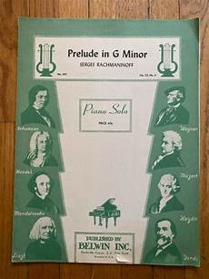 prelude in g minor op 23 no 5 sergei rachmaninoff piano sheet music belwin 283 ebay