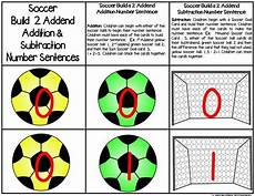algebra worksheets 8420 soccer build 2 addend 0 20 addition subtraction number sentence math math facts