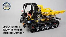 lego technic 42094 tracked dumper b model speed build