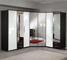 Schlafzimmer Spiegel Groß - neu eckkleiderschrank hochglanz wei 223 wenge eckschrank