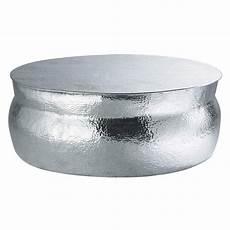 aluminium coffee table d 91cm nomade maisons du monde