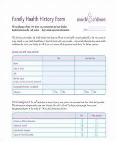 free 7 sle family medical history forms in word pdf