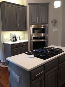coffee bar sherwin williams gauntlet gray sw7019 with glaze cabinets accessible beige