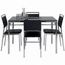 ensemble table et chaise ensemble table et de 4 chaises jade coloris noir vente