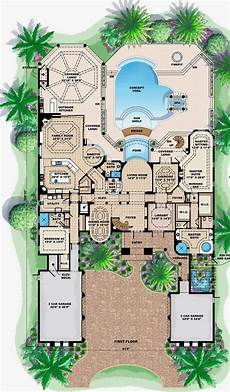 mediterranean house plans with pools florida mediterranean style house plans floor plan with