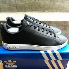 jual sepatu adidas neo advantec ori original indonesia black white hitam putih sepatu