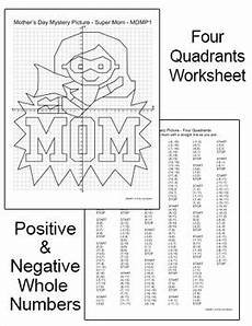 mother s day coordinate graphing ordered pairs mystery picture superhero mom