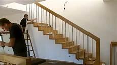 treppe nachträglich einbauen montage einer treppe mit setzstufen
