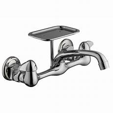 glacier bay kitchen faucet installation glacier bay 2 handle wall mount kitchen faucet with soap dish in chrome 815n 0001 the home depot