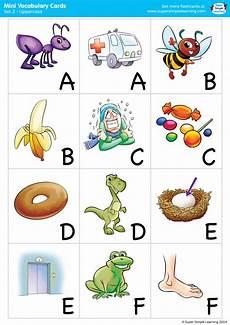 alphabet vocabulary cards 2 uppercase super simple