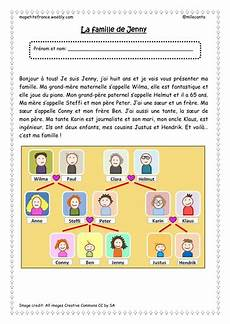 reading comprehension worksheet la famille de teaching resources