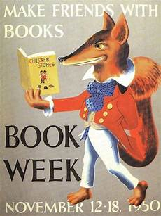 classic children s books posters mystery fanfare retro 1950 library poster book week