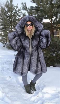 fur coat scandinavian saga royal silver fox заказать на