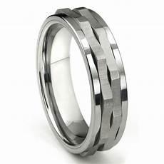 ninja star tungsten carbide spinning wedding band ring