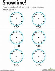 printable time worksheets for 1st grade 3732 telling time showtime worksheet education