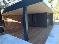 abri de jardin en bois avec terrasse abt construction bois
