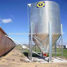 50 ton small galvanized steel feed silo global sources