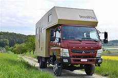 verkauft wohnmobil fuso canter 4x4 doppelkabine mit bis