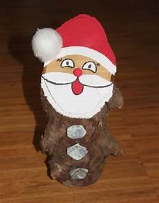 anleitung baumstamm weihnachtsmann nikolaus